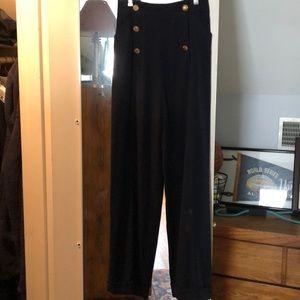 Vintage CHANEL Navy wool sailor pant
